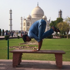 Bakasana@Taj Mahal